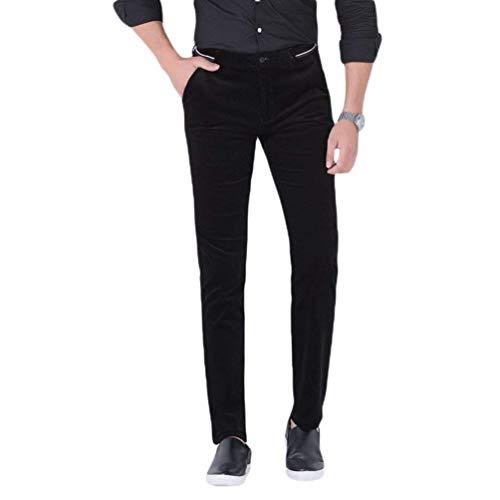 Ispessimento Pantaloni Fashion color Pantalone 34 Lungo Casual Uomini Giovane Traspirante Size Affari Saoye Rettilineo Casuale Nero Banda UxR8wKdqE