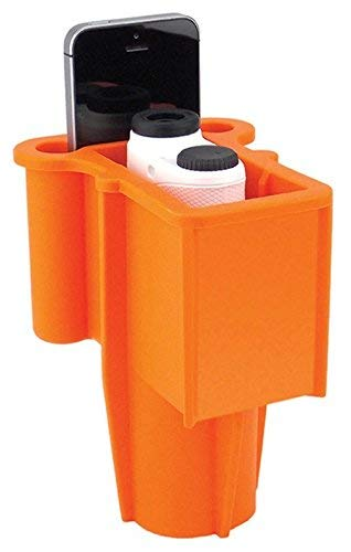 The Range Gripper for Golfers - an All-in-One Rangefinder/Smartphone Holder- Fits Any Golf Cart Cupholder, Secures & Protects Your Range Finder & Cell Phone - Never Lose Valuables Again, Orange]()