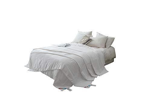 MOON'S SLEEPWARES / Machine Washable / [ Queen Size ] [ 4.5 Tog + 10.5 Tog Combine Set ] [ 100% Pure Silk Filling ] Silk Filled Duvet SDMW220x230-12