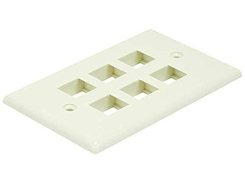 (Monoprice 106734 Wall Plate for Keystone 6 Hole, Ivory)
