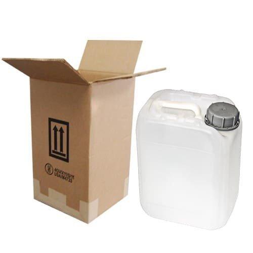 Air Sea Containers 5 Liter (1.32 Gallon) Jerrican/Jug Shipper - 3H1 - Natural/White
