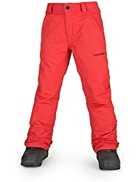 Volcom Boys Freakin 2 Layer Shell Chino Snow Pant, fire red Small