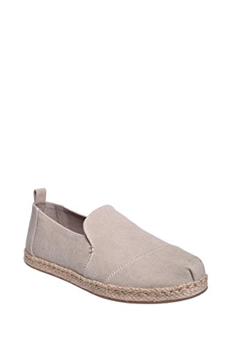 TOMS Women's Deconstructed Alpargata Desert Taupe Washed Canvas 6 B US