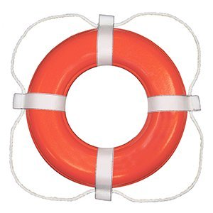 Taylor Made 364 Life Ring Buoy, ORANGE, 24""