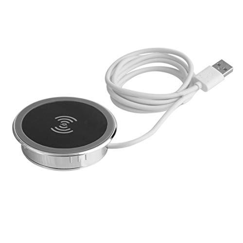 Almohadilla de carga universal para el cargador inalámbrico de escritorio a prueba de agua para teléfonos inteligentes...