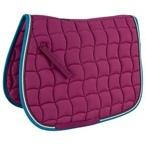Rider 's by Dover Saddlery Waveパッド  Raspberry/Grey/Cream/Teal B075X2C1ZY