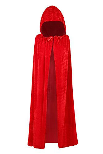 Free Shipping Halloween (Phyxin Full Length Adult Halloween Hooded Robe Cloak Cosplay Costume)