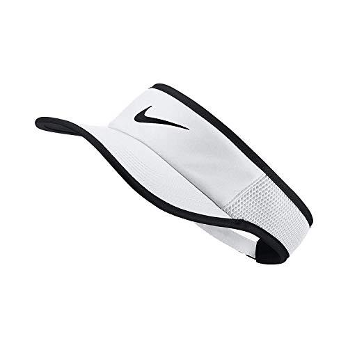 Nike Aerobill Featherlight Visor White/Black/Black Baseball Caps]()