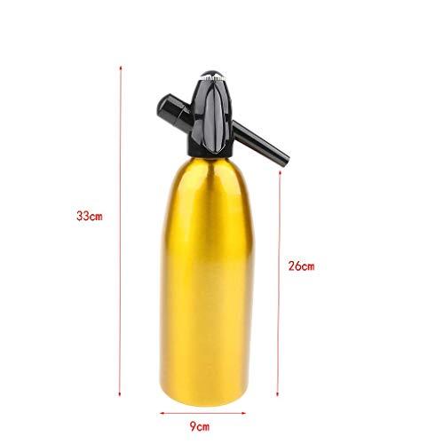Soda Siphon Kohlensäurehaltiger Seltzer Wasserbereiter für fizzy Getränke, Cocktail-Maschine, 1 l / 1000 ml / 35 Unzen, sicheres Einfädeln, kein Tropfen