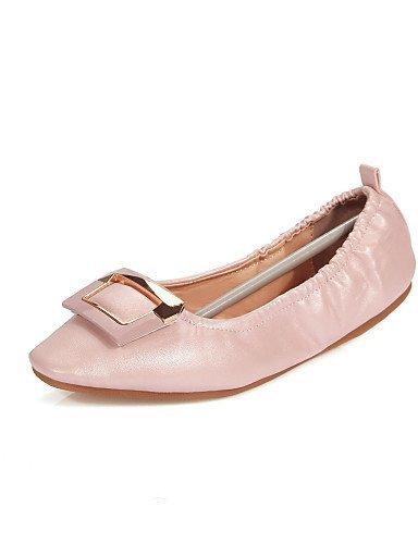 Ballerina Ballerine Pink Finta Donna Bianco pelle Blu Rosa Scarpe Casual Piatto Punta arrotondata ShangYi Comoda Barca wpXEnq