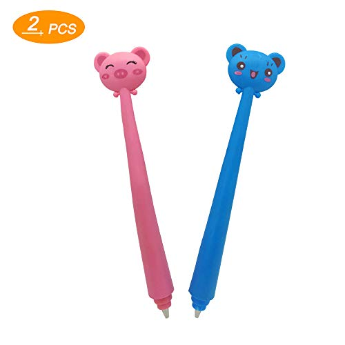 Diamond Painting Tools Cute Cartoon Flexible Drill Pen for More Comfortable Relieve Hands Fatigue (2 Packs)