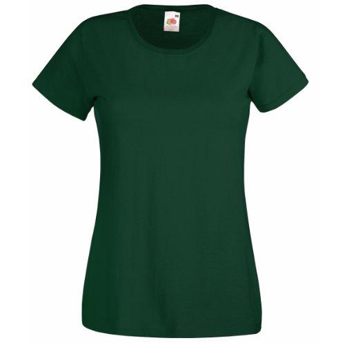 Fruit of the Loom - Camiseta - para mujer Verde Bottle