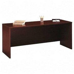 Bush Business Furniture Series C 72W x 24D Credenza Desk in Mahogany