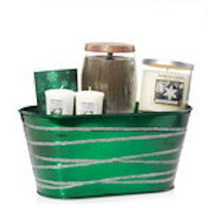 Yankee Candle Evergreen Tin Gift Set SPARKLING SNOW and PINE CONE (Gift Baskets Yankee Candle)