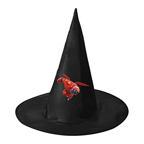 Big Hero 6 Fred Costume (Big Hero 6 Baymax Halloween Cosplay Party Hat Witch Magic Cap (Black))