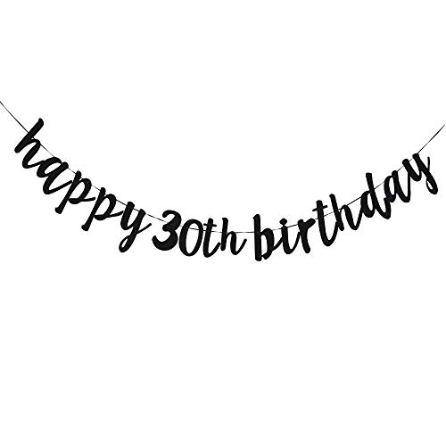 Happy 30th Birthday, 30th Birthday Party Hang Bunting Sign Decorations Photo Props, Party Favors, Supplies, Gifts, Themes and -