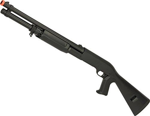 Evike - CYMA Full Metal M3 3-Round Burst Multi-Shot Shell Loading Airsoft Shotgun