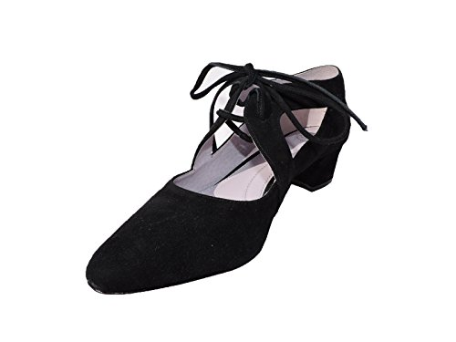 Johnston & Murphy Women's Brylee Ghillie Black Suede Pump Shoes Heels Size 9 M Johnston & Murphy Suede Heels