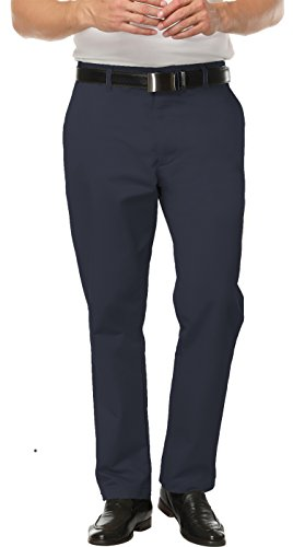 China Blue Apparel (Boisouey Men's Pleated Performance Chino Pant Navy Blue 34)