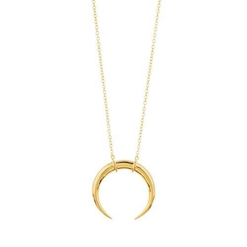 Modern Everyday Necklace - gorjana Women's Cayne Crescent Pendant Necklace - 18k Gold Plated - Moon Pendant Necklace - Modern Style