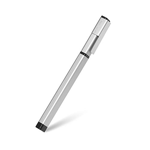 Moleskine Classic Pro Click Ballpoint Pen, 1.0mm Point, Silver Grey