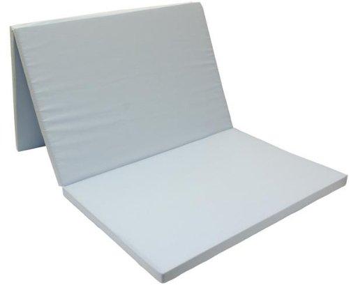 【硬さ3倍 270NT 40mm】 アキレス 三ツ折 スーパーハードマットレス (ダブル, ブルー) B00JYT65KW ブルー ダブル