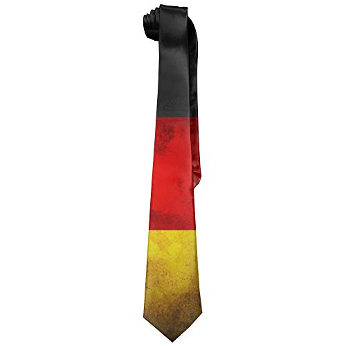 (Vintage German Flag Polyester Neckwear Silk Neck Tie, Men's Cool Novelty Classic Neckties,Graduation Meeting Business Casual Skinny Ties)