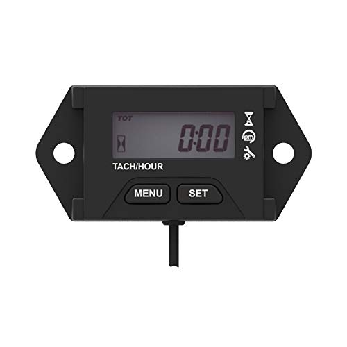 Jayron JR-HM059 Digital Hour Meter Tachometer,Maintenance Reminder,Alert RPM Reminder,for Generator,Motorcycle Boat Mower,Lawn Mower,PWC,Motor Cycles,ATV,Motorcycles Marine Engines,Tractors