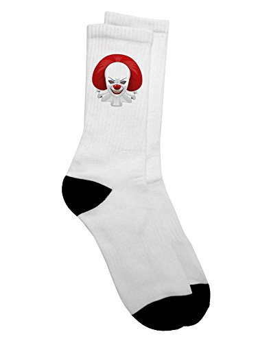 Scary Movie 2 Clown (Scary Clown Face 2 - Halloween Adult Crew Socks Ladies 6-9 or Mens 9-13)