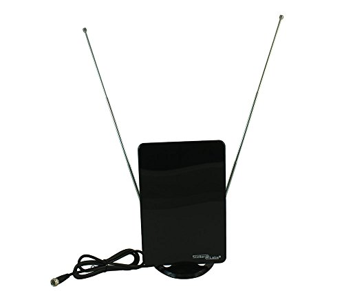 Flat Panel Tv Mirror - MyCableMart HDTV Off-Air UHF/VHF/FM Antenna, Indoor/Compact/Flat, up to 25 Miles