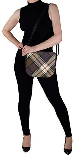 Leather Inside Tartan Bag Pocket Clanranald Macdonald Back Of Handbag Shoulder grRwgf