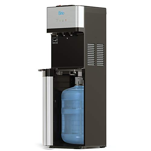 Brio Self Cleaning Bottom Loading Water Cooler Water Dispenser - Limited Edition - 3 Temperature Settings - Hot, Cold & Cool Water - UL/Energy Star Approved (Stainless Steel Water Cooler)