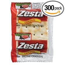 Keebler Products - Saltine Crackers, 2/PK, 300PK/CT - Sold as 1 CT - Saltine crackers are perfect for snacking or with salad and soup. Each packet contains two original baked Zesta crackers. KEEBLER COMPANY