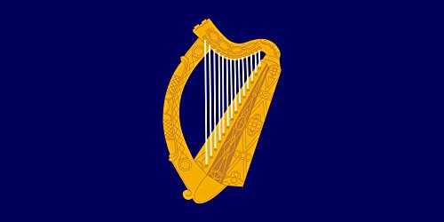 magFlags Large Flag Presidential Flag of Ireland with alternate official state harp design | landscape flag | 1.35qm | 14.5sqft | 90x150cm | 3x5ft -- 100% Made in Germany -- long lasting outdoor f