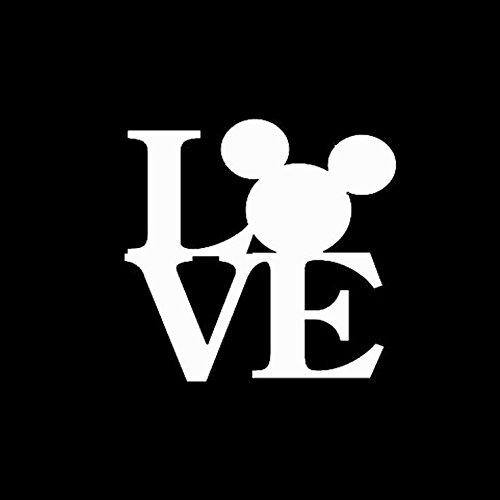 Keen Love Mickey Decal Vinyl Sticker|Cars Trucks Walls Laptop|White|5 -