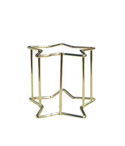 FZSH 2ps Metal star Makeup Sponge Blender Holder Stand Makeup Sponges Stand Sponge Support Display Stand Puff Storage Rack Drying Rack Mold-proof (2.4x1.6?, Gold)
