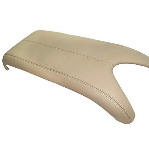 Acura Parts - Beige Leather Suture Console Lid Armrest Cover for Acura Armrest Cover(Only The Leather Part not include Lid)