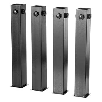 DormCo Suprima Ultimate Height Bed Risers - Carbon Steel Black