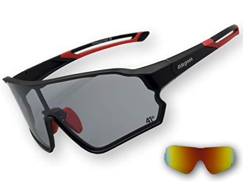41degrees Gafas de Sol Fotocromaticas con 2 Lentes Intercambiables 2 en 1 Gafas de Ciclismo Polarizadas UV400 para Running, Esqui Mascara Unisex Modelo Tramuntana