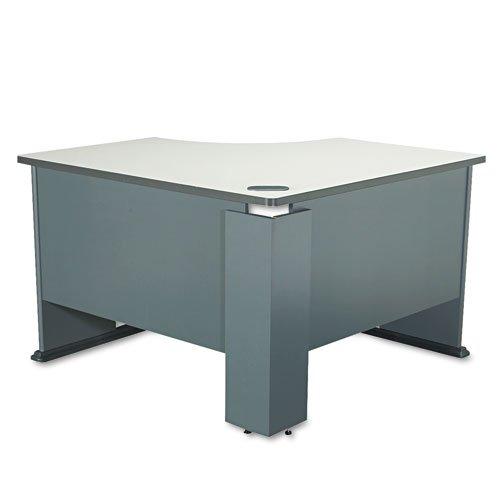 (Bush Business Furniture Series A 48W Corner Desk in Slate and White)