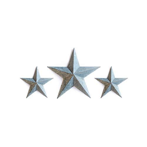 (GALVANIZED TIN BARN STAR SET - zinc grey 2X 8