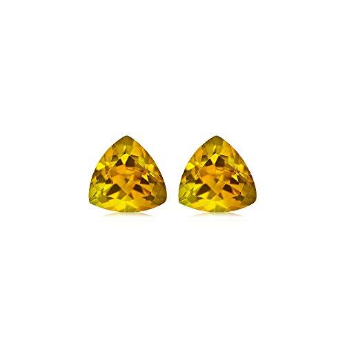 Mysticdrop 0.60-0.75 Cts of 5 mm AA Trillion Yellow Beryl (2 pcs) Loose Gemstones