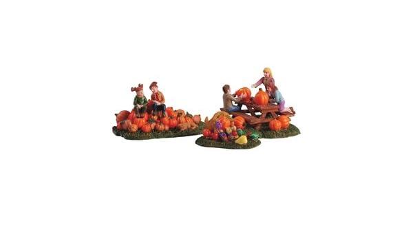 Transpac Imports D1596 Mini Glass Harvest Pumpkin Set of 3 Decor Brown