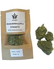GANJA Tee DYNAMITE 15% I Premium Qualität 1g (1000mg) I Made in Austria I Naturbelassen, Vegan & Deutsches Zertifikat in jeder Sendung I natürlicher Geschmack I aus kontrolliertem Anbau