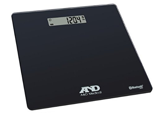 A&D Medical Wireless Connected Weight Scale, Black (UC-352BLE)
