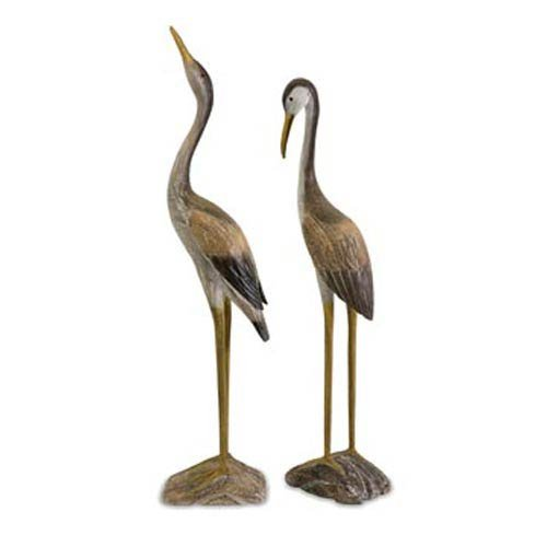 Imax Corporation Reeds Wood Cranes (Set of 2) from Imax