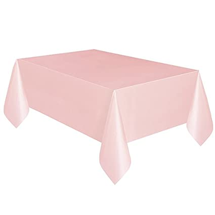 Amazon Com Plastic Tablecloth 108 X 54 Light Pink Kitchen Dining