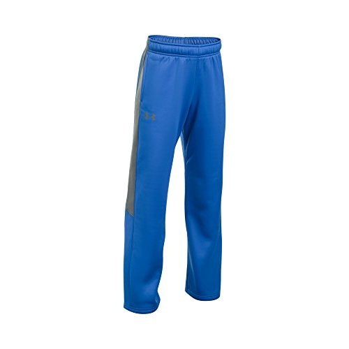Under Armour Boys PS Armour Fleece Pant, Blue/Graphite, YLG by Under Armour (Image #1)