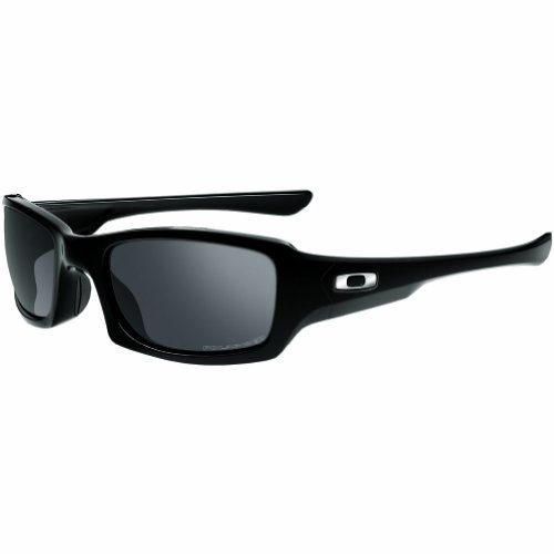 Oakley Fives Squared OO9238 Sunglasses - 06 Polished Black (Black Iridium Polarized Lens) - - 5 Polarized Oakley Sunglasses