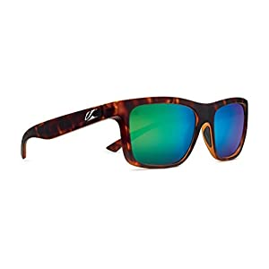Kaenon Adult Clarke Sunglasses, Matte Tortoise / Coastal Green, One Size
